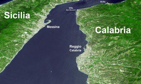 Stretto Di Messina Satellite