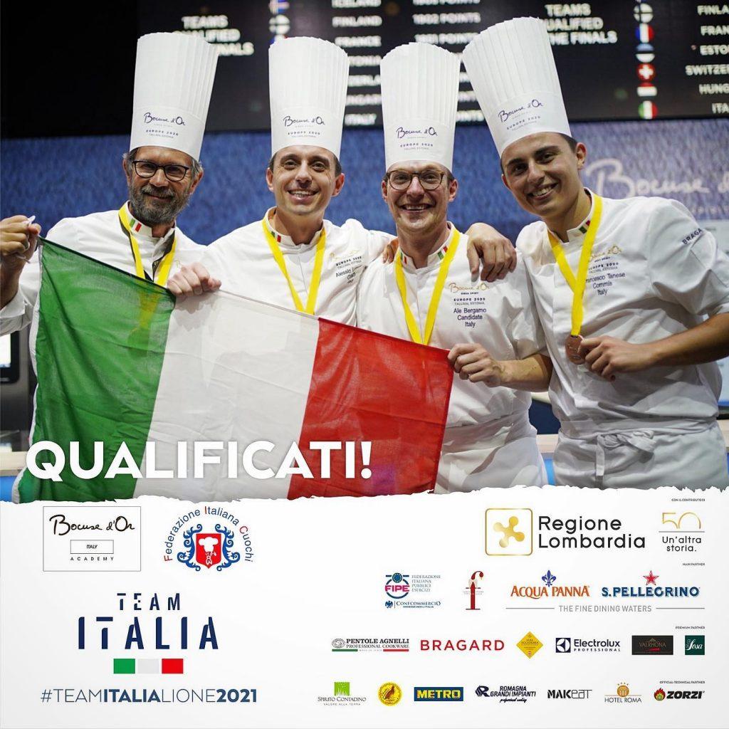 lorenzo alessio e il resto del team qualificato per la finale di Lione