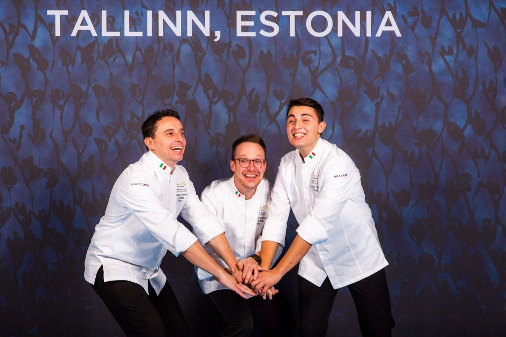 lorenzo alessio e gli altri cuochi in semifinale a Tallinn