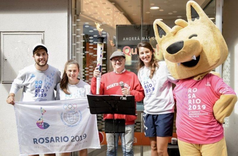 Juegos Suramericanos - Antorcha en el Paseo Peatonal