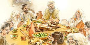 Pascua - cena en familia