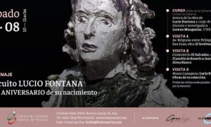 Flyer difusion del Circuito Lucio Fontana