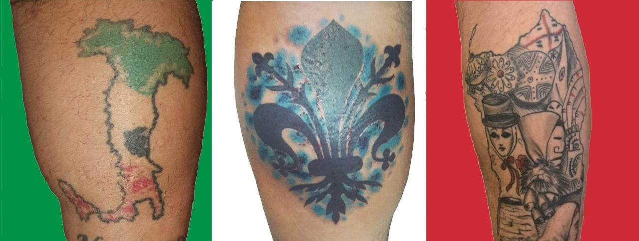 Tatuaje - bandera italiana