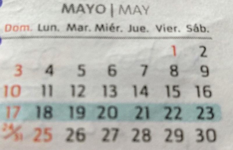 semana - Mayo