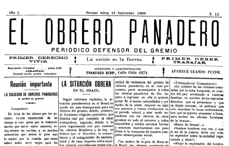 Día Nacional del Obrero Panadero - Diario Obrero Panadero
