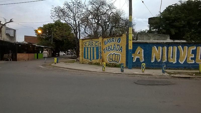 La Tablada - Graffiti Rosario Central En Barrio Tablada