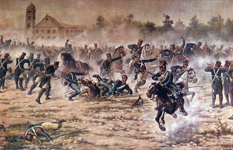 Combate de San Lorenzo - Pintura Batalla Sl