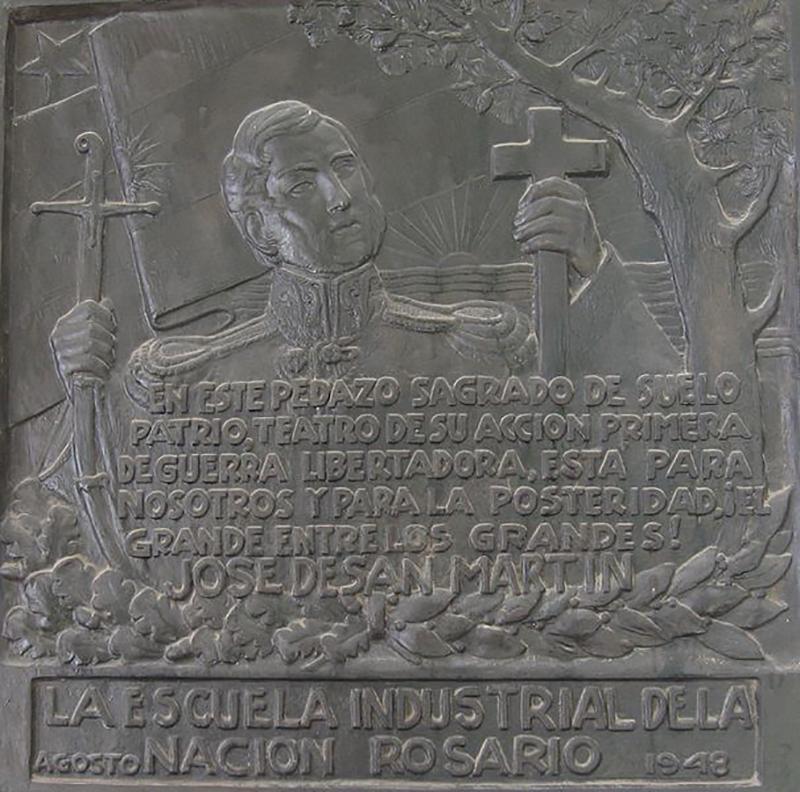 Combate de San Lorenzo -Placa A José De San Martin