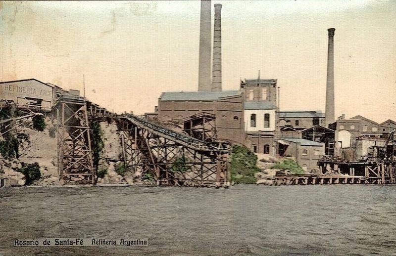 Italianos en Rosario - Refineria Argentina En Rosario
