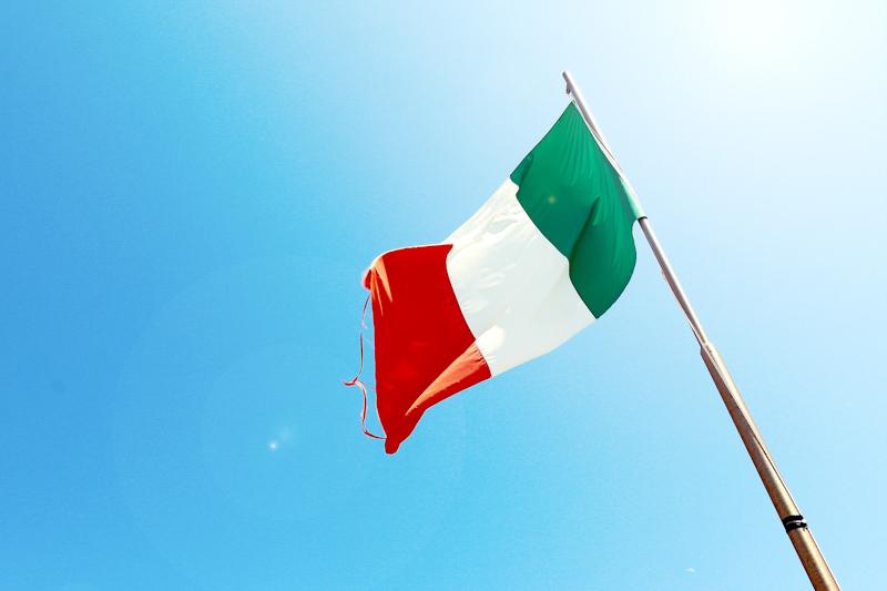 becas - Bandera Italia