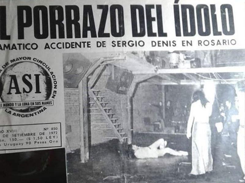 Diario Con La Noticia Del Accidente De Sergio Denis