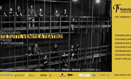 Il manifesto di apertura della stagione del teatro sociale di Rovigo