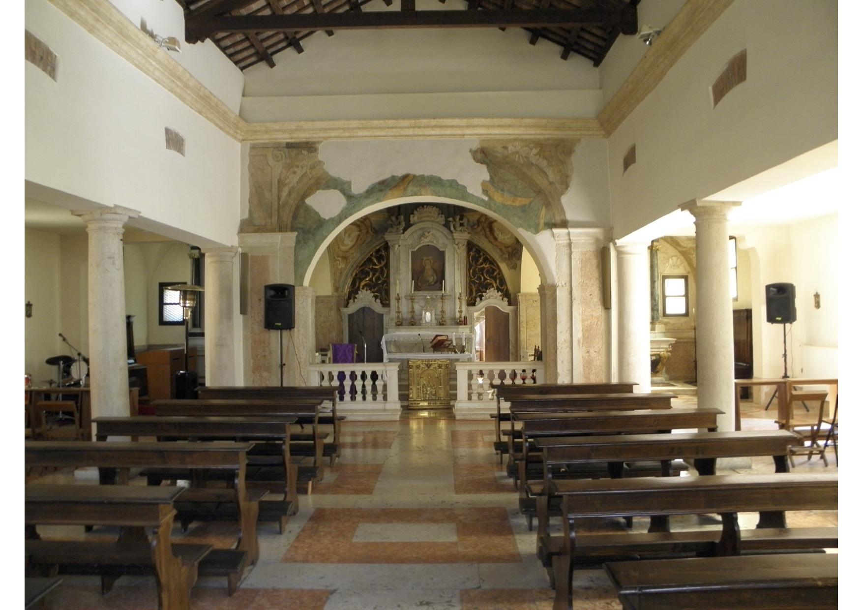 Lo splendido interno della chiesa del Cristo a Rovigo