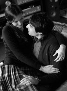 La miss in pigiama Elena Zulato insieme al marito Riccardo
