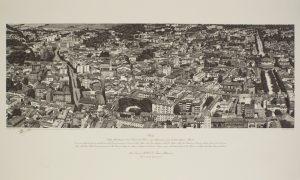 Una veduta aerea di Rovigo con il corso dell'Adigetto