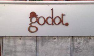 Il logo stilizzato della gelateria Godot di Rovigo