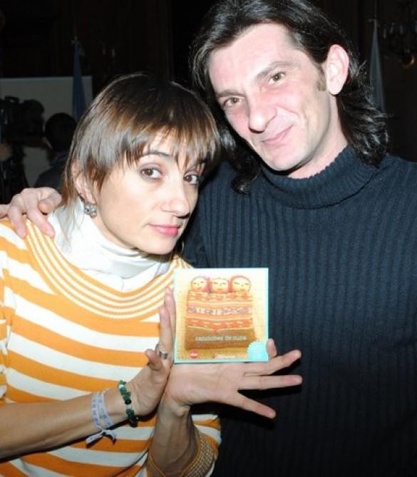 Federico Melioli con Hilda Lizarazu