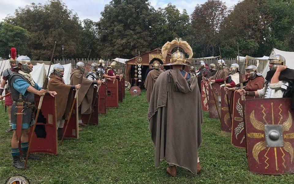 Legio I Italica all'apertura della manifestazione della Centuriazione Romana