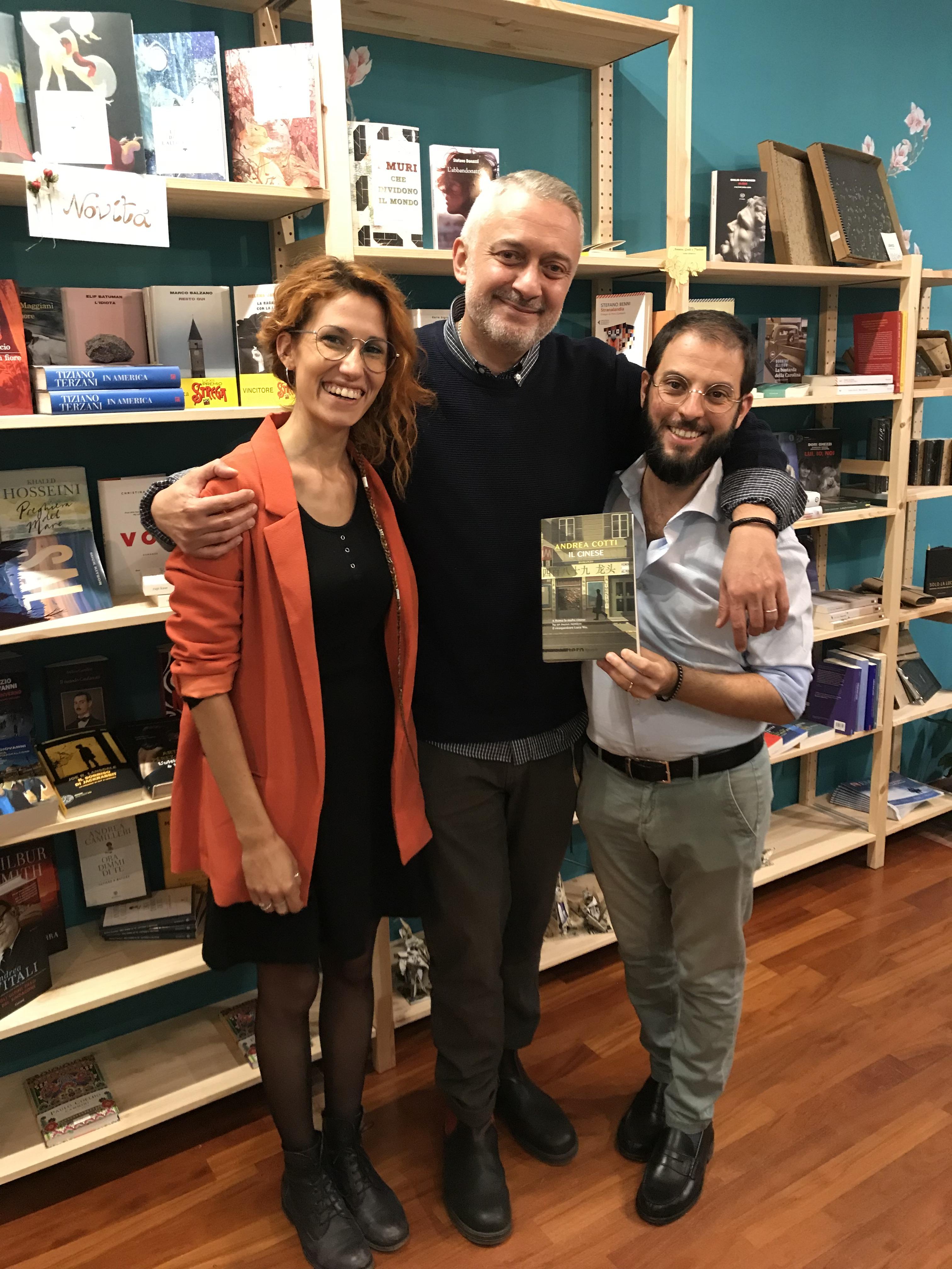 Andrea Cotti con Paolo Panzacchi e Gaia Zanzottera