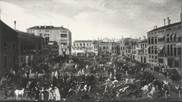 La corsa dei berberi insieme alla caccia ai tori erano tradizionali in polesine
