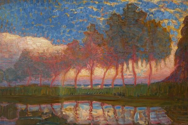 Uno dei dipinti della mostra arte e magia