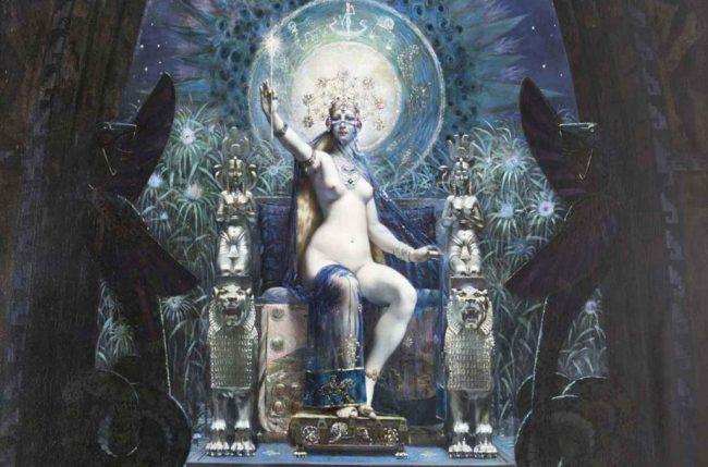 Uno dei dipinti nella mostra Arte e magia