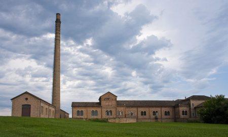 La caratteristica veduta del Museo regionale della bonifica di Ca' Vendramin