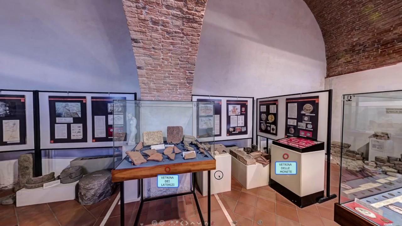 L'interno del Museo della Centuriazione Romana