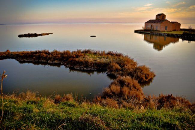 Un magnifico paesaggio nel Delta del po