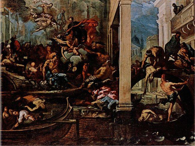 Dipinto in memoria della peste in polesine