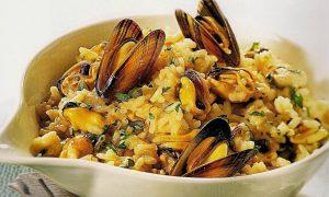 Risotto insalata e cozze, splendido piatto con delizie polesane