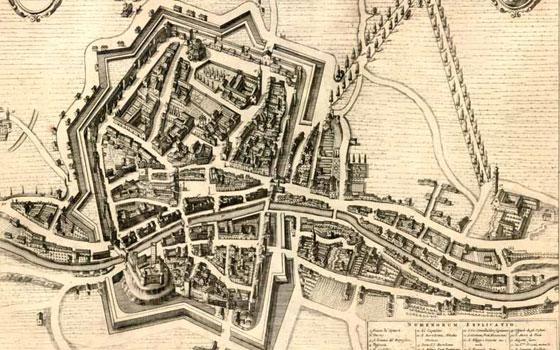 Una vecchia immagine di Rovigo, capoluogo del polesine