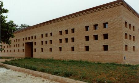 La vista esterna del centro turistico culturale di San Basilio