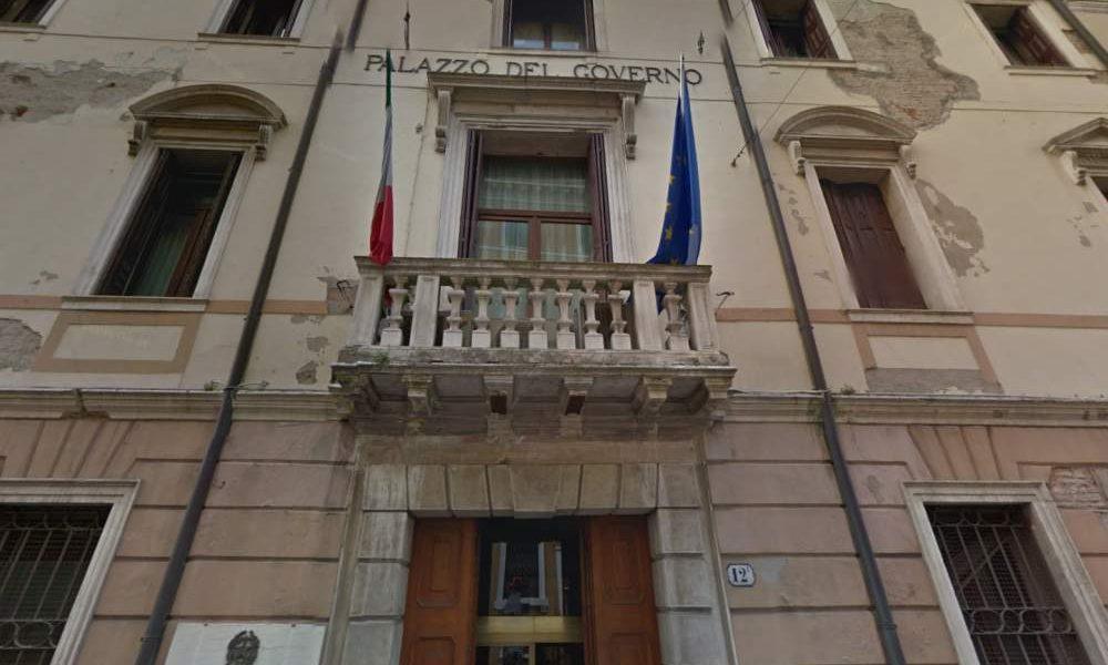 La facciata di Palazzo salvadego