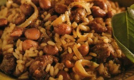 Un tipico piatto di Risi e fasoi duri
