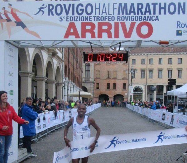 Il vincitore della Rovigo Half Marathon