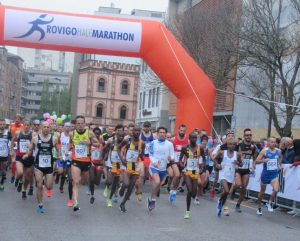 La partenza della quinta Rovigo Half Marathon