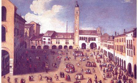 Immagine della piazza durante i secoli della Dominazione veneziana