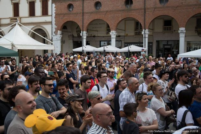 Piazza Vittorio colma di presenza per Rovigo Comics