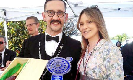 Angelo Bernardinelli con il premio regionale