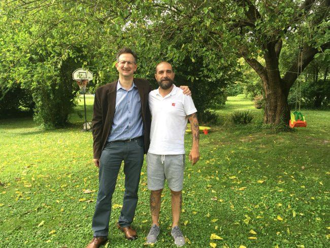 Enrico Spolaore con Alessandro, il blogger di itRovigo