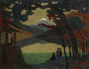 Uno dei dipinti della mostra Giapponismo