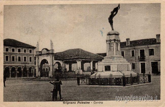 Un'immagine d'epoca di Grignano polesine