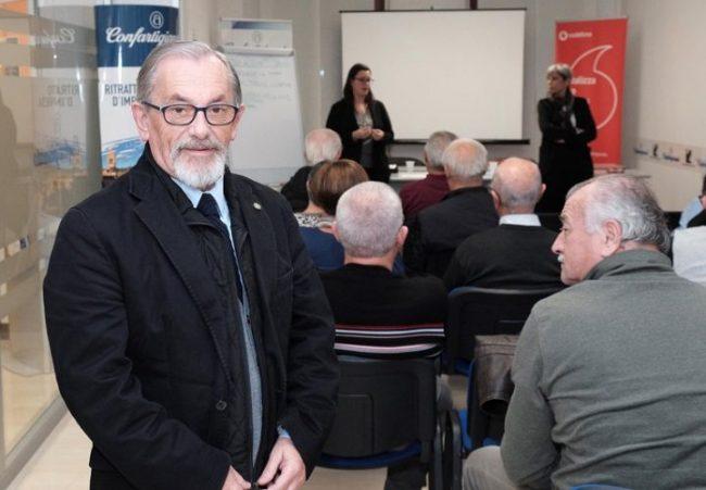 Angelo Franzoso, presidente Anap Confartigianato Polesine, sostenitore di Piu sicuri insieme
