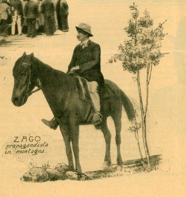 Ferruccio Zago e il suo cavallo