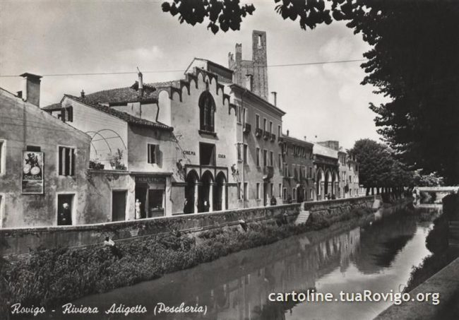 Una foto di epoca a rappresentare Adigetto arteria della città