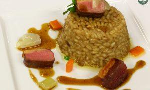 Piatto di risotto con Alzavola