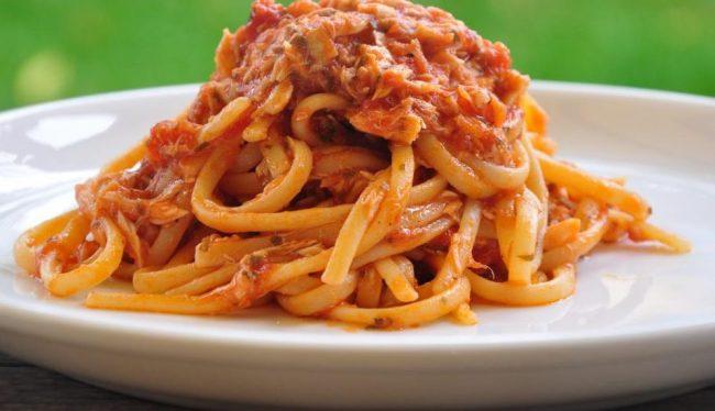 Spaghetti con polpa di Ghiozzo