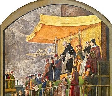 365px Pedro Berruguete Saint Dominic Presiding Over An Auto Da Fe 1495