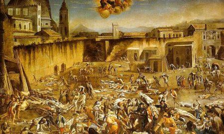 Micco Spadaro Largo Mercatello Durante La Peste A Napoli (1656)